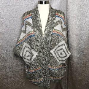 American Eagle Southwest Wool Blend Open Cardi Sm